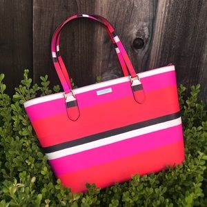 Kate Spade striped handbag / tote